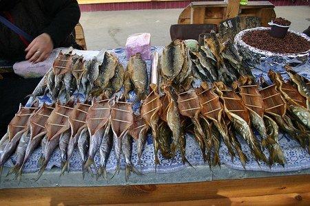 Omul: el pescado típico del lago Baikal