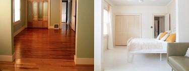 Antes y después: un dormitorio conectado a una mini sala de estar, que se llena de luz