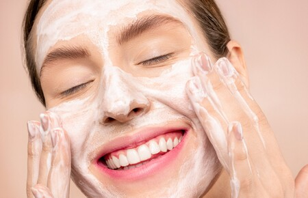 Woman With White Facial Soap On Face 3762466