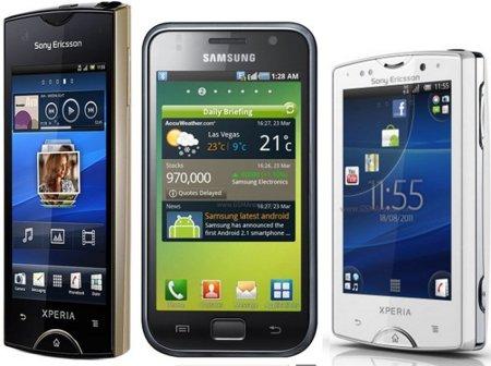 Samsung Galaxy S Plus, Sony Ericsson Ray y Xperia Mini Pro: precios con Vodafone