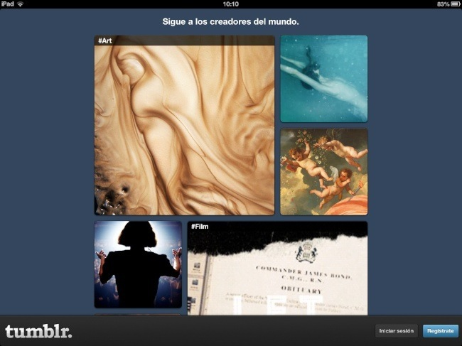 Tumblr para iPad