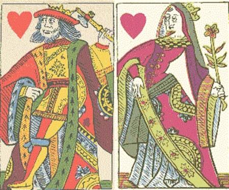 Rey y reina de corazones del diseño de Pierre Marechal