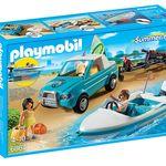 Set de playmobil con todoterreno, lancha y dos surfistas por 19,90 euros en Amazon