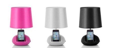 Lámpara Vibe Ipod, con soporte para iPod y altavoces incorporados