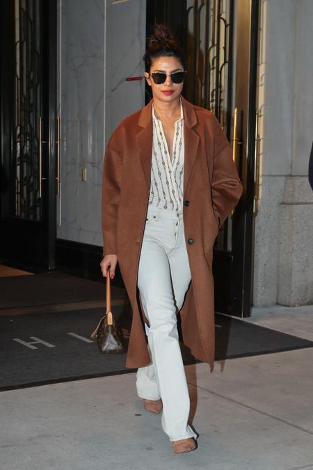 Priyanka Chopra Wears Mango Coat In Ny 2