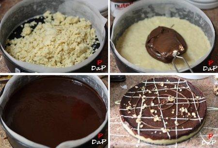 Cómo hacer una tarta de chocolate y nutella