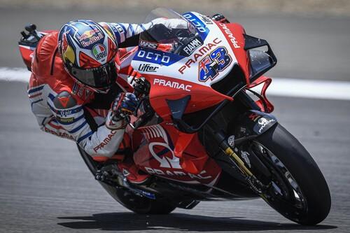 Jack Miller manda un aviso en la lluvia de Le Mans dominando los entrenamientos de MotoGP