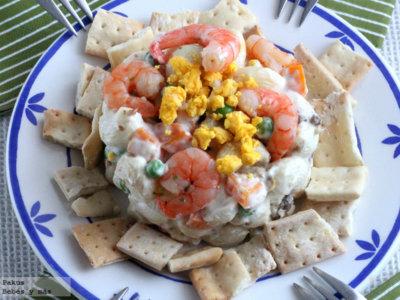 Ensaladilla rusa de pasta, la original receta que les encantará este verano
