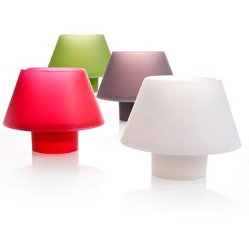 Portavelas de silicona y forma de lámpara