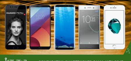 Samsung Galaxy S8 frente al LG G6, Huawei P10, Xperia XZ Premium, iPhone 7 y otros rivales de gama alta