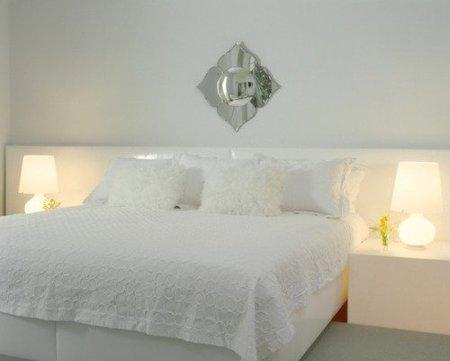 Uno de los dormitorios de invitados de Lenny Kravitz