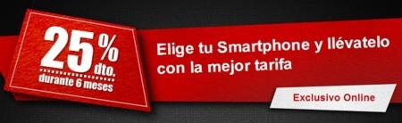 Vodafone aprieta a la competencia con un 25% de descuento en cuotas durante seis meses