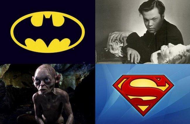 Batman, Orson Welles, Gollum y Superman