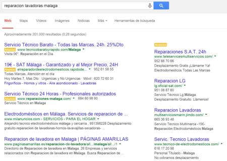 Reparación de lavadoras en Google