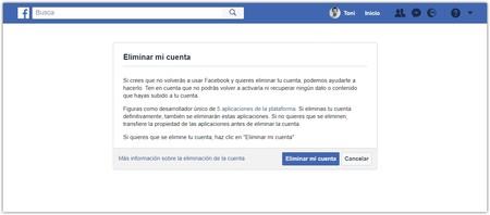 Facebook Borrar Cuenta