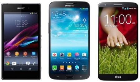 Precios Sony Xperia Z1, LG G2 y Samsung Galaxy Mega con Movistar