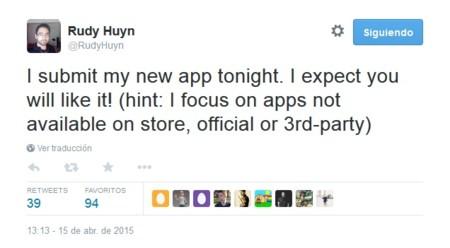 Rudy Huyn comenta que mandó a revisión una nueva aplicación para Windows Phone