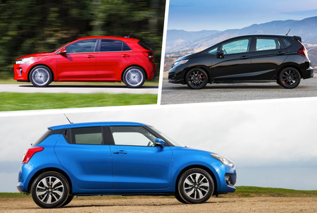 Honda Fit Vs Kia Rio Vs Suzuki Swift 4