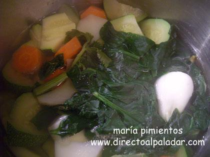 verduras y hortalizas a cocer