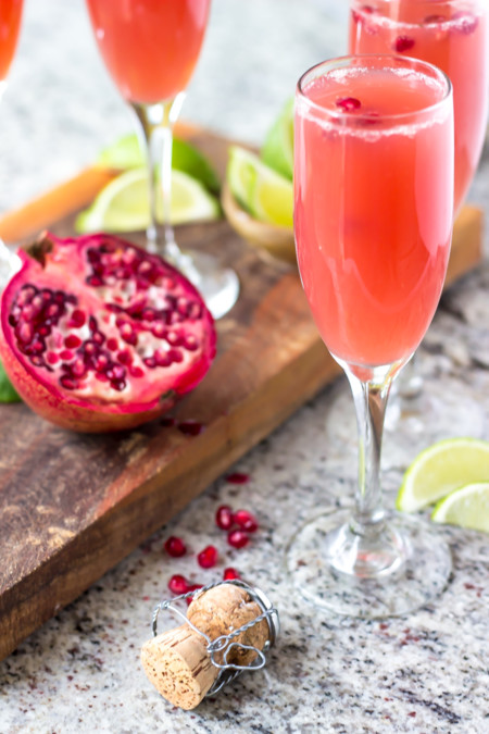 Mexican Pomegranate Mimosas 2