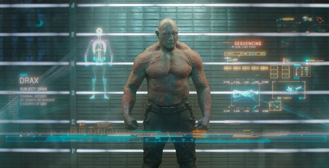 Dave Bautista en Guardianes de la Galaxia