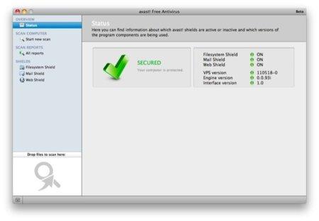 Llega Avast a Mac OS X, un fantástico y gratuito antivirus