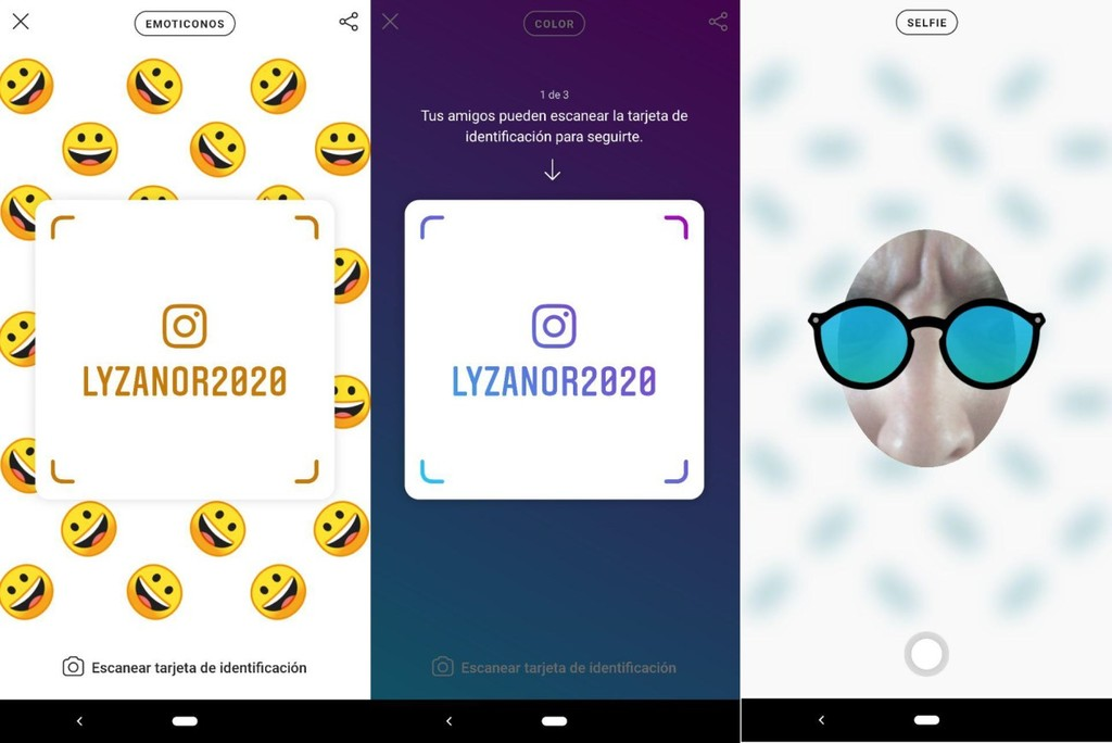 How to use the new identification cards to Instagram to add contacts
