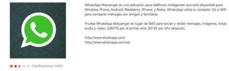 puntuaion whatsapp