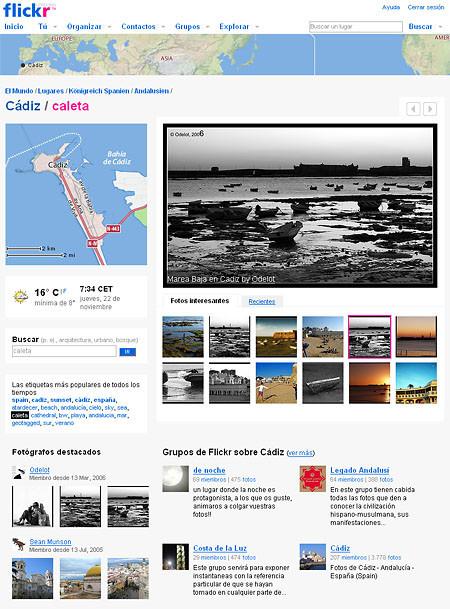 Lugares, en flickr