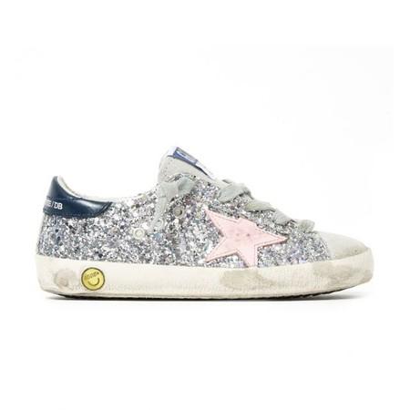 Zapatillas Cordones Suede Glitter Superstar