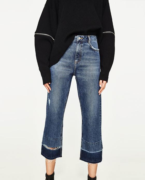 vaqueros denim jeans bicolor tendencia