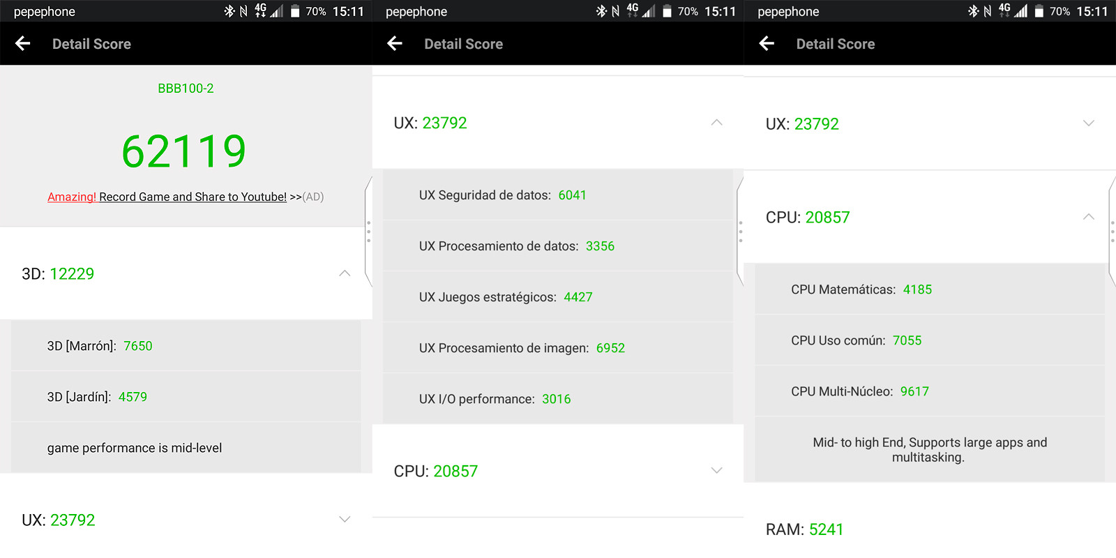 Foto de BlackBerry KEYnote, benchmarks (1/6)
