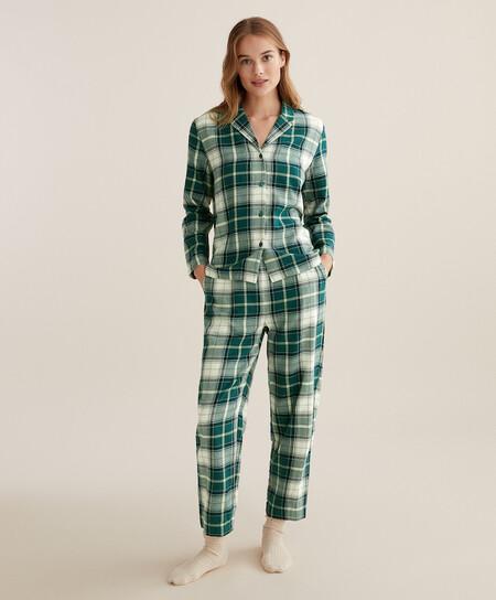 Pijama Tartan Navidad Oysho 00004