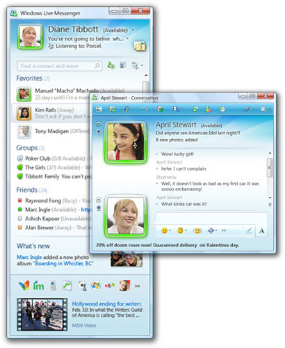 Windows Live Messenger 9 Milestone 2
