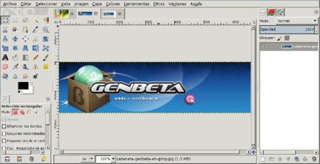 GIMP 2.8 ventana única