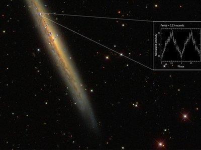 Se detecta pulsar mil veces más brillante de lo que se creía posible