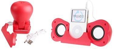 Altavoces para iPod en forma de manzana