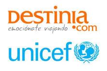 Destinia dona un porcentaje de sus ventas a Unicef