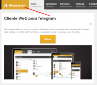 Hispagram, un cliente web para Telegram