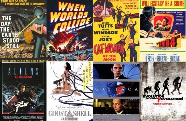 Carteles de algunas de las películas más destacadas del género de ciencia-ficción