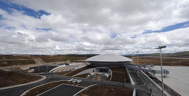 Daocheng Yading Airport Terminal Sep 2013