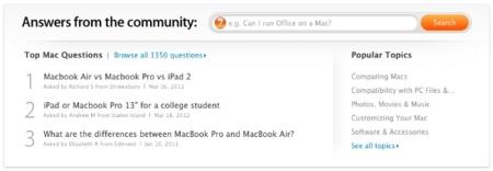 Respuestas desde la Comunidad: la nueva sección de la Apple Store online
