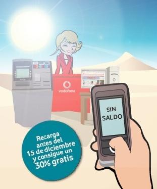 Vodafone regala un 30% de saldo con un nuevo método de recarga