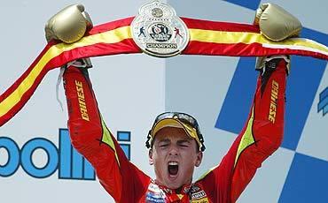 Jorge Lorenzo, bicampeón del mundo de 250cc