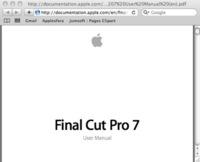 Descarga el manual de Final Cut Pro 7 en pdf desde la web de Apple
