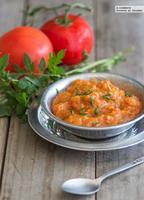 Salsa de tomates asados y ajo. Receta