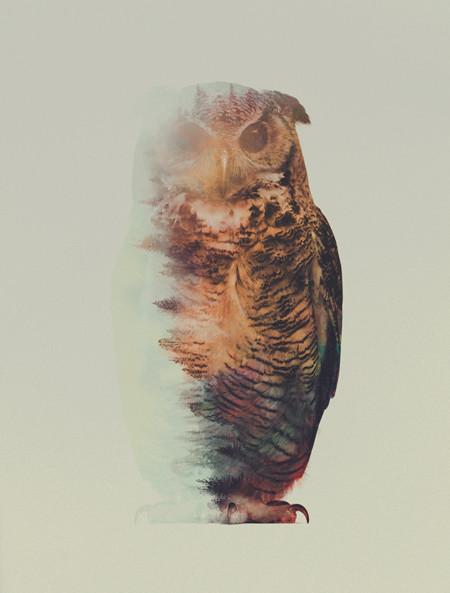 Andreas Lie fusiona idílicos paisajes con animales
