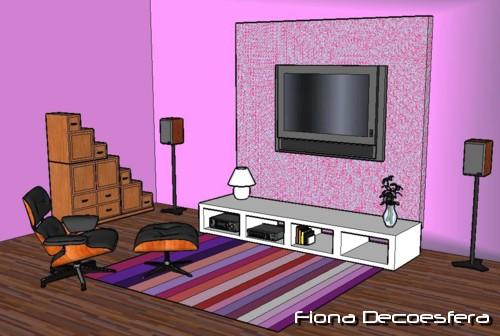 Hazlo t mismo oculta los cables de tu televisor de - Muebles para televisiones planas ...