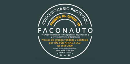 Sello Faconauto Concesionario Coronavirus