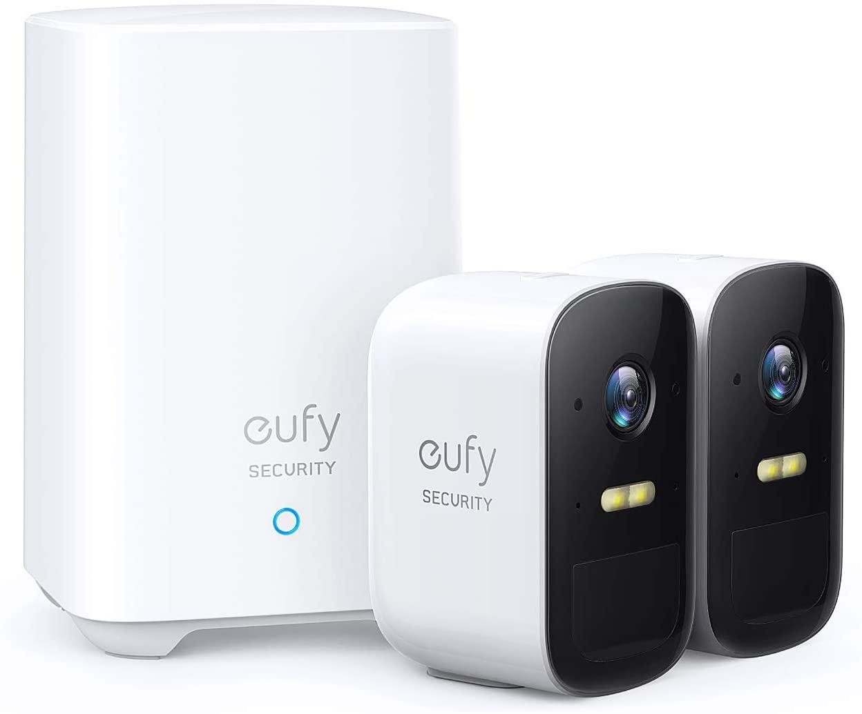 Sistema de Cámara de Vigilancia Inalámbrica eufy Security eufyCam 2C, Cámara de Seguridad, 180 días Autonomía de la Batería, HD 1080p, Resistencia al Agua IPX65, Visión Nocturna, Compatible con Alexa